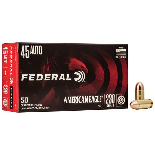 Federal American Eagle Handgun 45 Auto, 230 gr, FMJ Ammunition