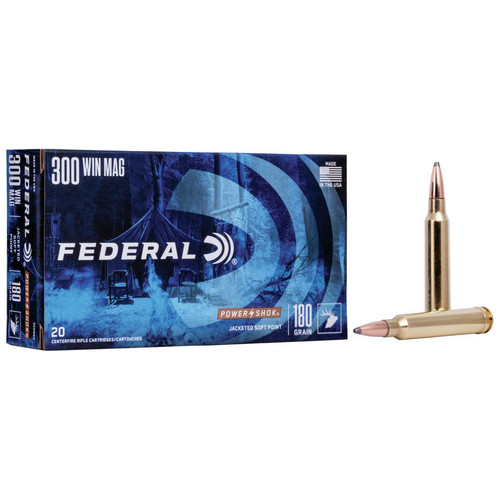 Federal Power•Shok Rifle 300 Win Mag, 180 gr, JSP Ammunition