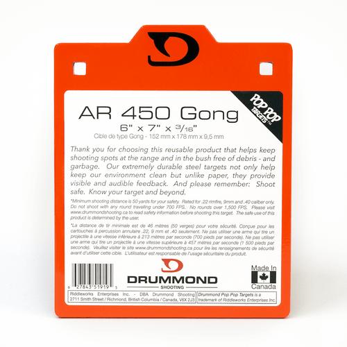 "Drummond AR450 Steel Target - 6""x7""x3/16"""