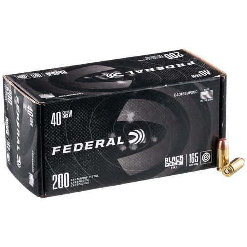 Federal Black Pack Handgun 40 S&W, 165 gr, FMJ Ammunition