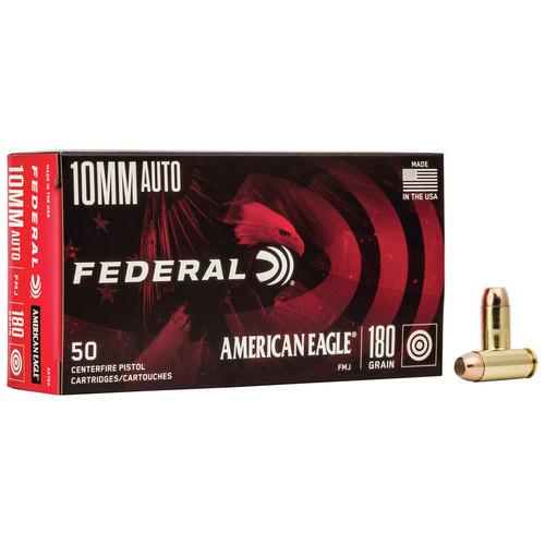 Federal American Eagle Handgun 10mm Auto, 180 gr, FMJ Ammunition