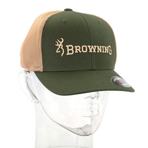 Browning Branded 2 Flexfit Trucker Hat - Loden
