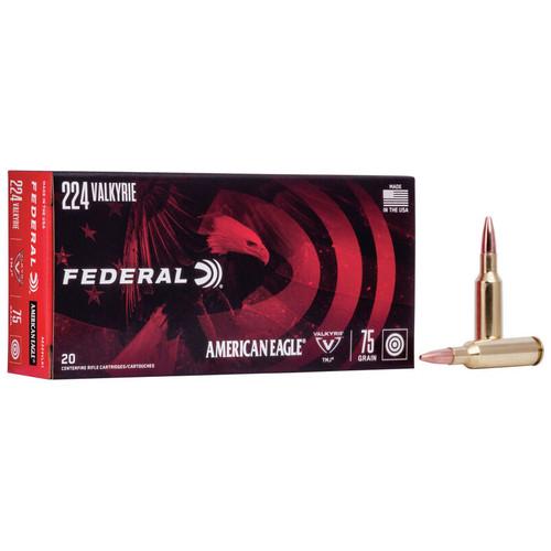Federal American Eagle Rifle 224 Valkyrie, 75 gr, TMJ Ammunition
