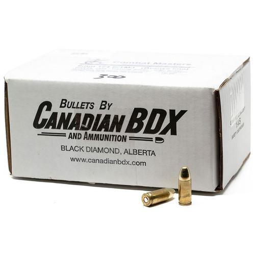 Canadian BDX Bronze Line 9x19mm, 124 gr, E/TMJ, Brass Case Ammunition