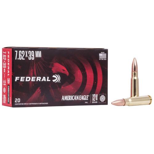 Federal American Eagle Rifle 7.62x39mm, 124 gr, FMJ Ammunition