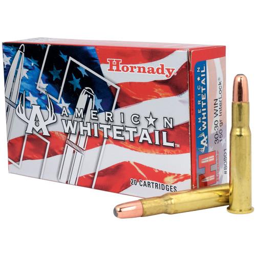 Hornady American Whitetail 30-30 Win, 150 gr, RN InterLock Ammunition