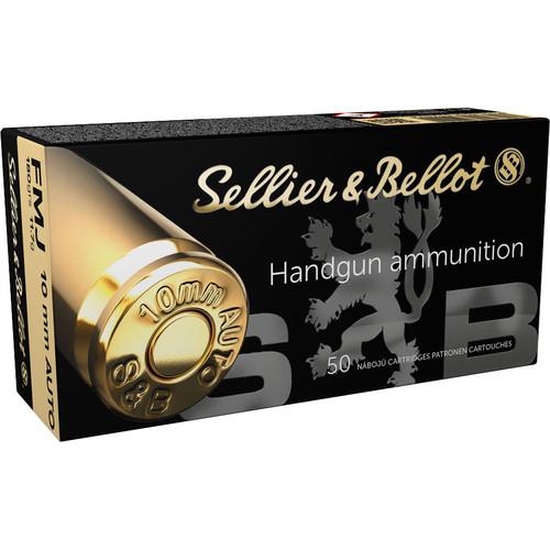 S&B Handgun Ammunition - 10mm Auto, 180 gr, FMJ, 50 Rounds