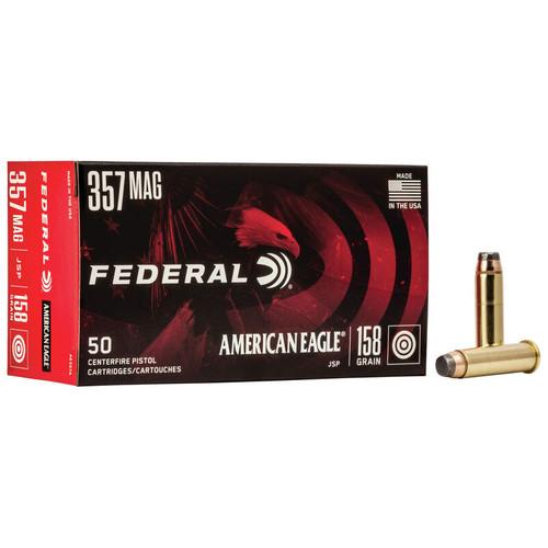 Federal American Eagle Handgun 357 Magnum, 158 gr, JSP Ammunition