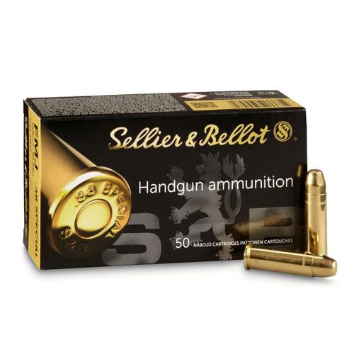 S&B Handgun Ammunition - 38 Special, 158 gr, FMJ, 50 Rounds