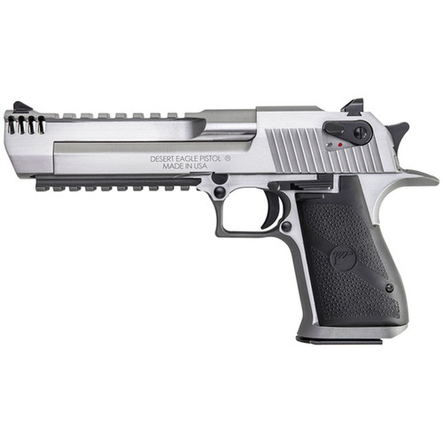 Magnum Research Desert Eagle Mark XIX Pistol, Stainless w/ Integral Muzzle Brake
