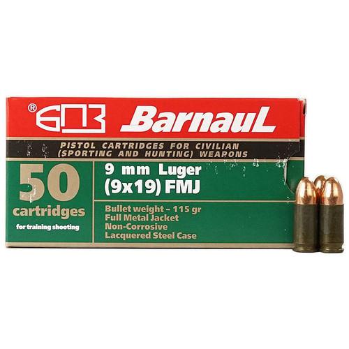 Barnaul Pistol 9x19mm, 115 gr, FMJ Ammunition