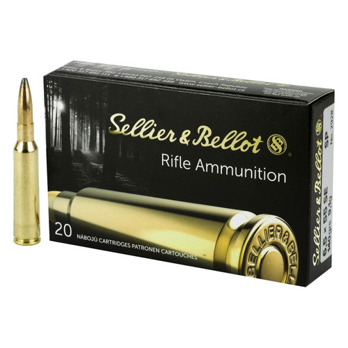 Sellier & Bellot Rifle Ammunition - 6.5x55mm Swedish, 140 gr, SP