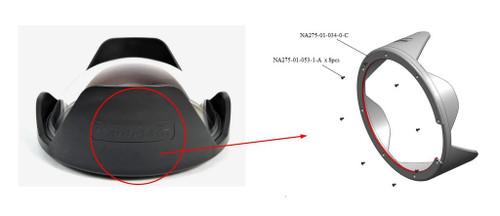 28137 Shade for 230mm Optical Glass Fisheye Dome Port II