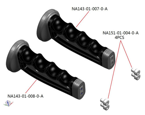 25301 Pair of MIL/Compact Housing Handles with Screws