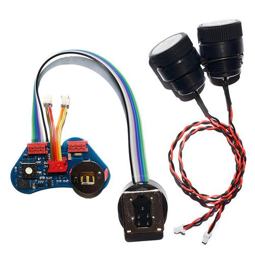 UWT TTL-Converter for Canon for ISOTTA Housings including 2 pcs Optical Bulkheads with built-in powerfull LED