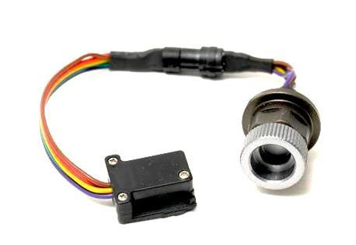 25021 Nikon hotshoe plug to a M14 Ikelite style bulkhead (x and ground connection only)