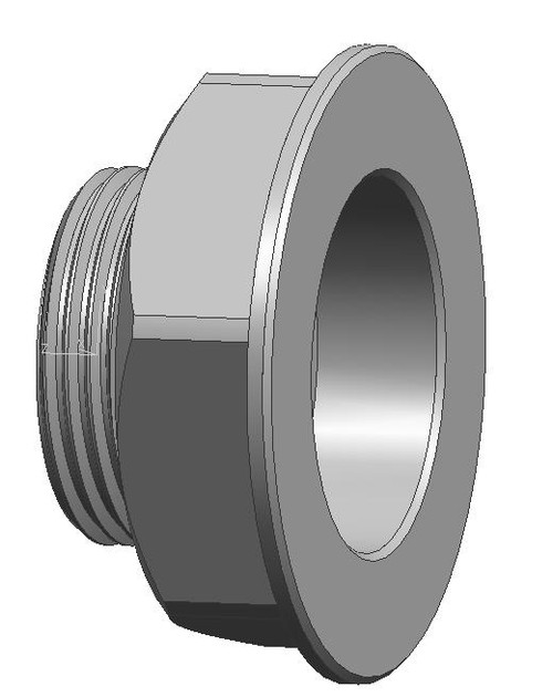 25018 M16 to Amphibico hydrophone adaptor