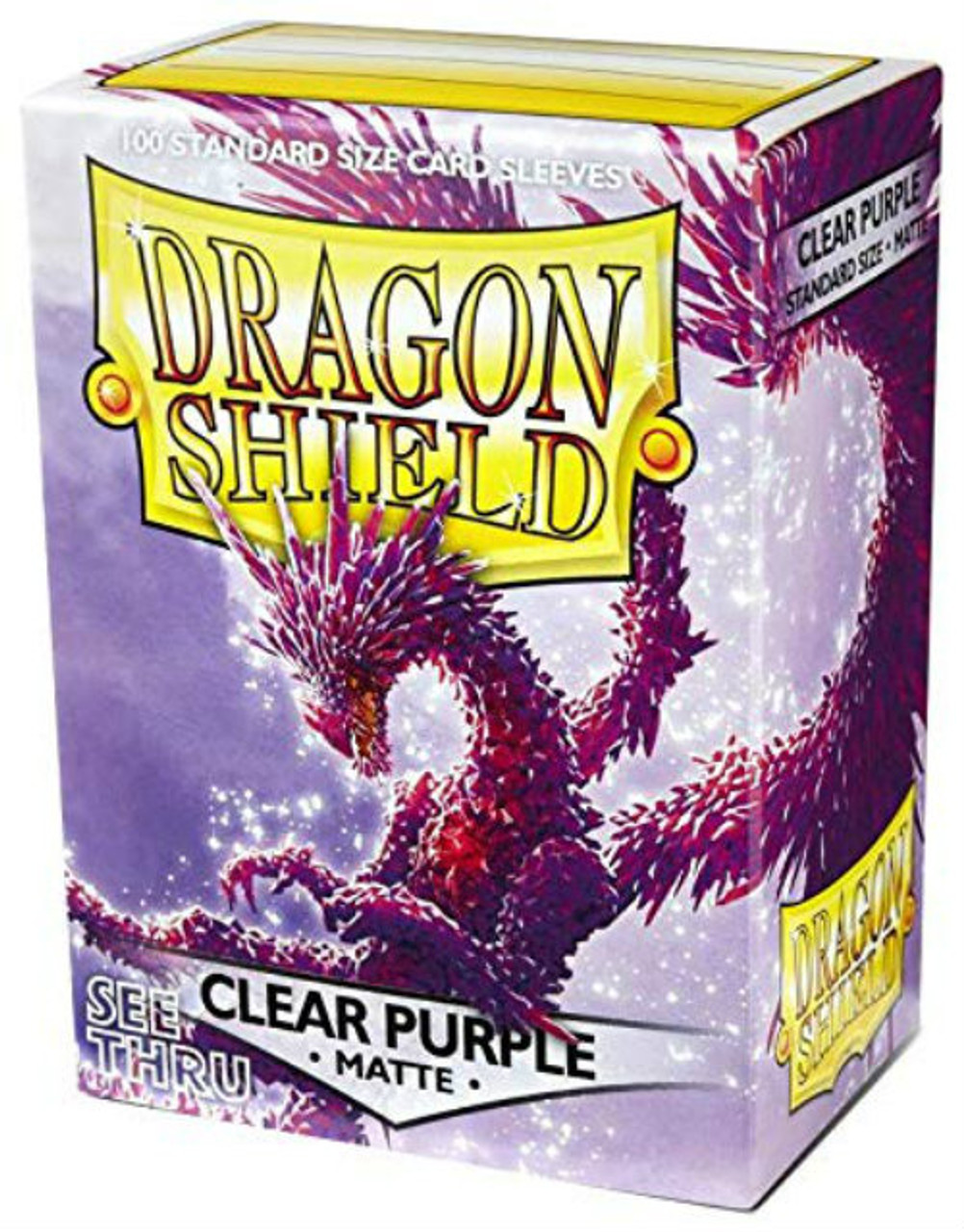 Dragon Shield: Standard Card Sleeves - Matte Clear Purple (100 ct)
