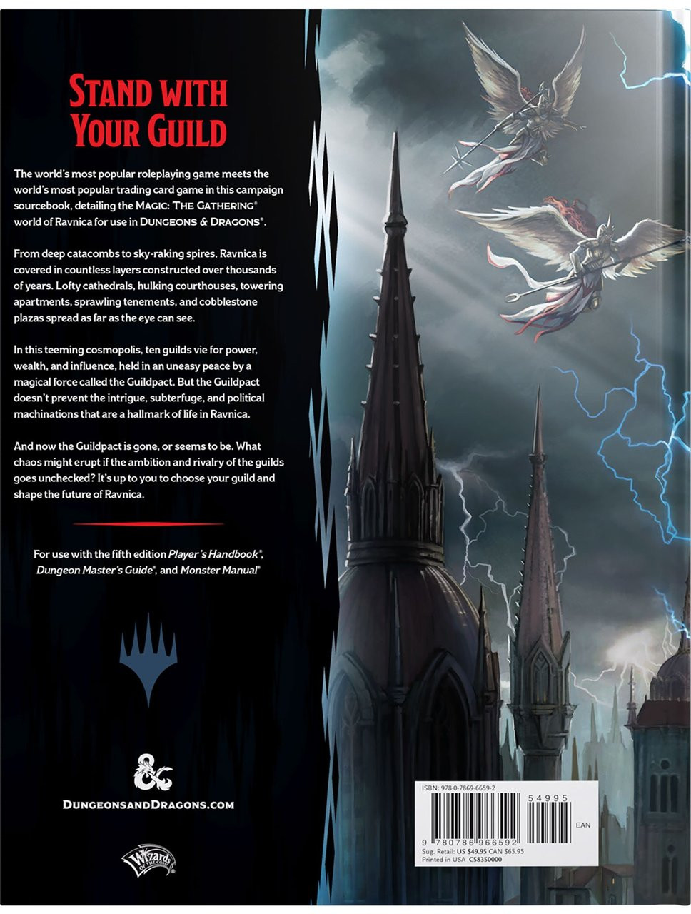 Dungeons & Dragons 5th Edition RPG: Guildmaster's Guide to Ravnica (Hardcover)