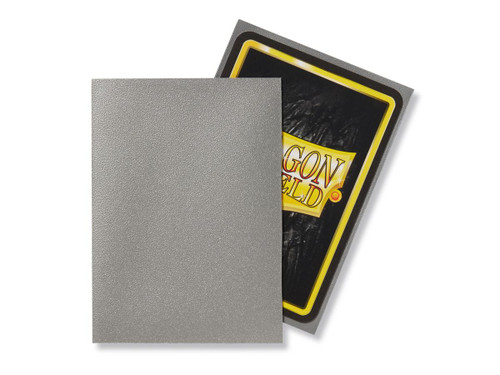 Dragon Shield: Standard Card Sleeves - Matte Silver (100 ct)