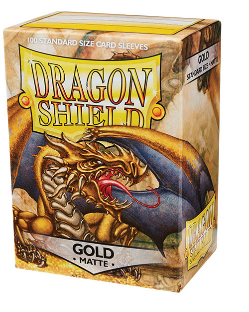Dragon Shield: Standard Card Sleeves - Matte Gold (100 ct)