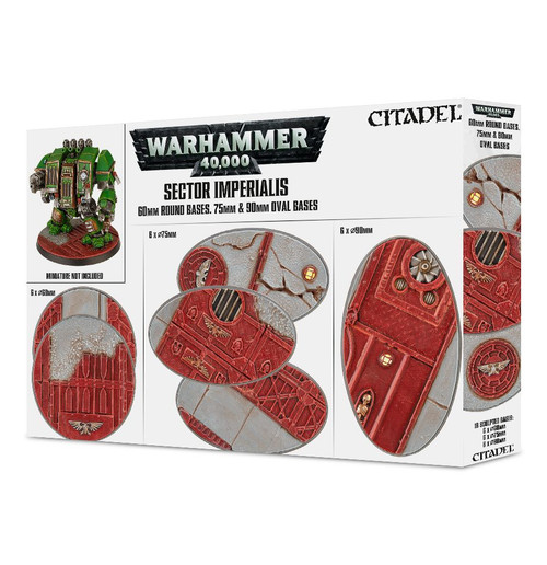 Warhammer 40K: Sector Imperialis - 60mm Round, 75mm/90mm Oval Bases