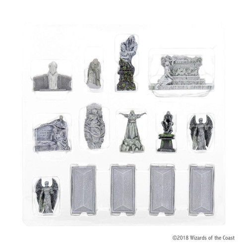 Dungeons & Dragons Fantasy Miniatures: Waterdeep Dragon Heist - City of the Dead Statues & Monuments