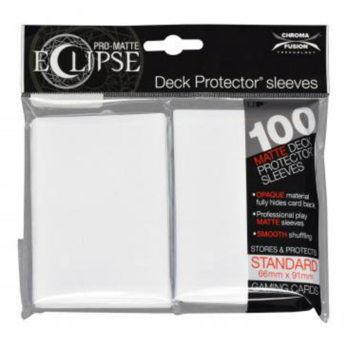 Ultra Pro: Pro-Matte Eclipse Standard Card Sleeves - Arctic White (100 ct)