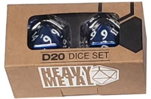 Ultra Pro: Heavy Metal - D20 2 Dice Set (Blue)