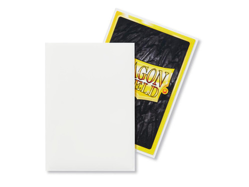Dragon Shield: Japanese Size Card Sleeves - Matte White (60 ct)