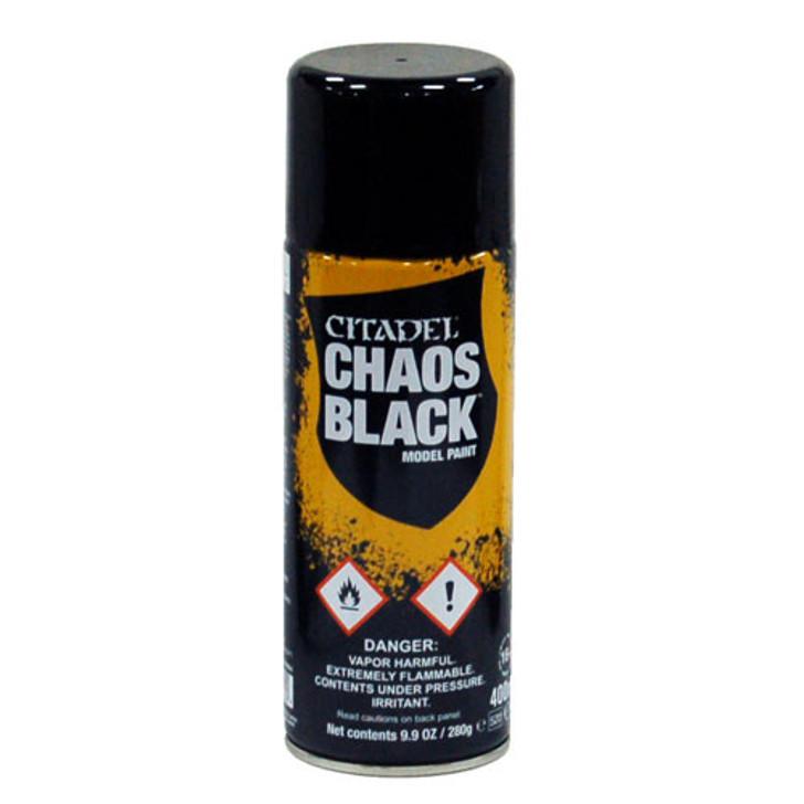 Citadel: Spray Paint- Chaos Black (400ml)