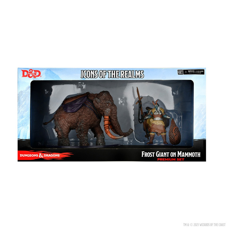 D&D Icons of the Realms Premium Figure: Frost Giant & Mammoth
