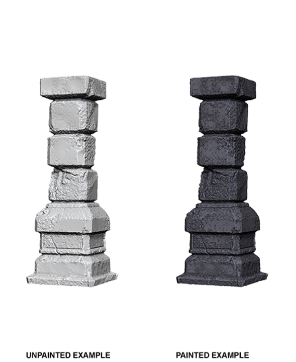 WizKids Deep Cuts Unpainted Miniatures: Pillars (Wave 3)