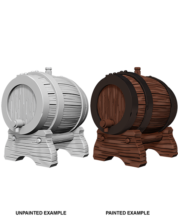 WizKids Deep Cuts Unpainted Miniatures: Keg Barrels (Wave 2)