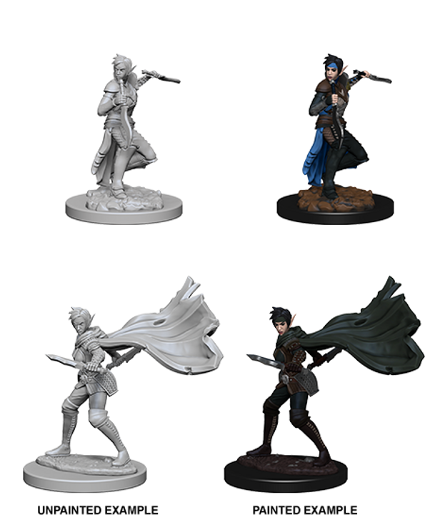 Pathfinder Deep Cuts Unpainted Miniatures: Elf Female Rogue (Wave 4)