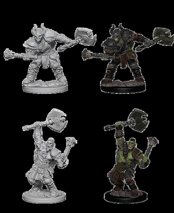 Pathfinder Deep Cuts Unpainted Miniatures: Half-Orc Male Barbarian (Wave 3)