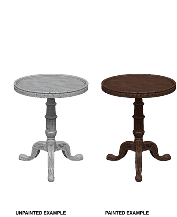 WizKids Deep Cuts Unpainted Miniatures: Small Round Tables (Wave 5)