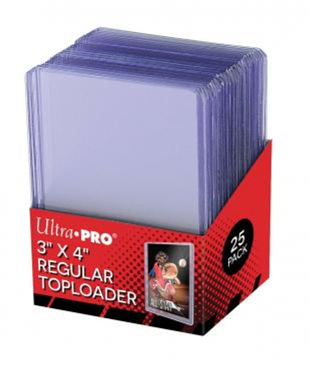 "Ultra Pro: 3"" X 4"" Clear Regular Toploader (25ct)"