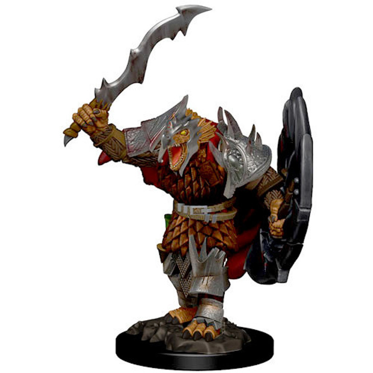 Dungeons & Dragons: Premium Painted Miniature - Male Dragonborn Fighter (Wave 1)