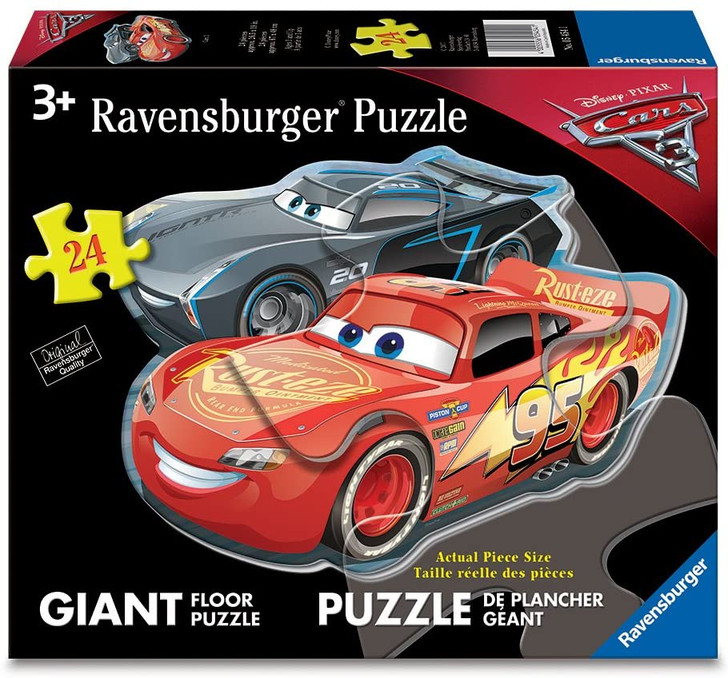 Dueling Cars (Shaped Floor Puzzle)
