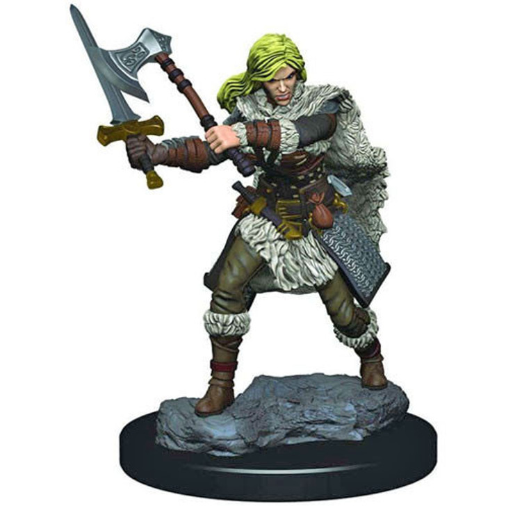 Dungeons & Dragons: Premium Painted Miniature - Female Human Barbarian (Wave 3)