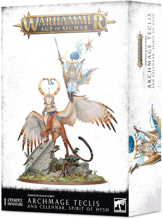 Warhammer Age of Sigmar: Lumineth Realm-Lords - Archmage Teclis & Celennar
