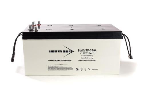 Bright Way BW EV8D-330A Battery - 12V 330AH 8D
