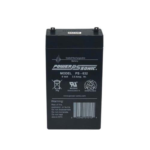 Power Sonic PS-632 Battery - 6V 3.5AH