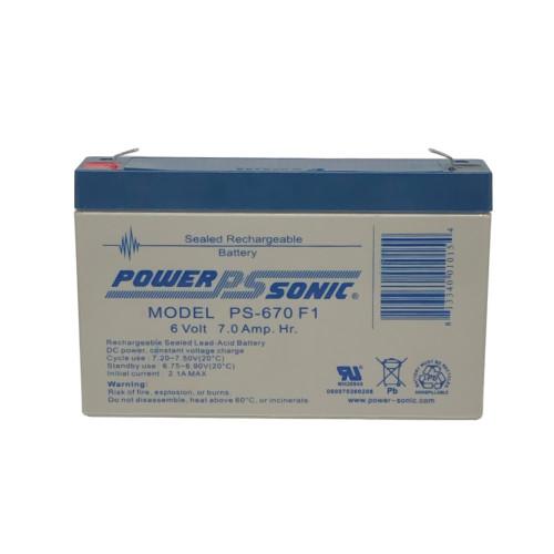 Power Sonic PS-670 Battery - 6V 7AH