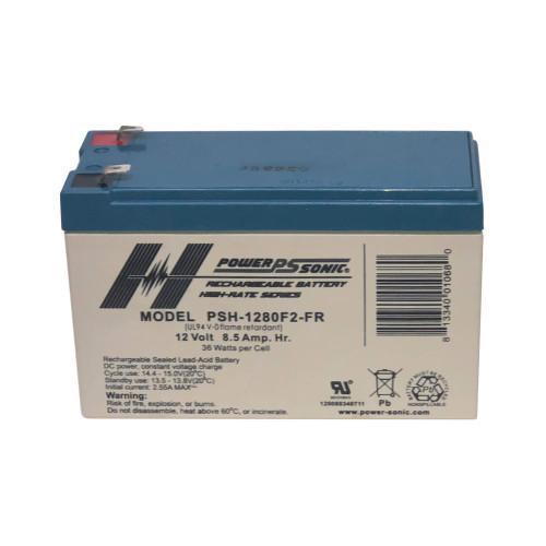 Power Sonic PSH-1280F2-FR Battery - 12V 8.5AH