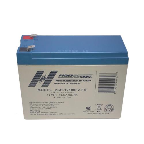 Power Sonic PSH-12100F2-FR Battery - 12V 10.5AH