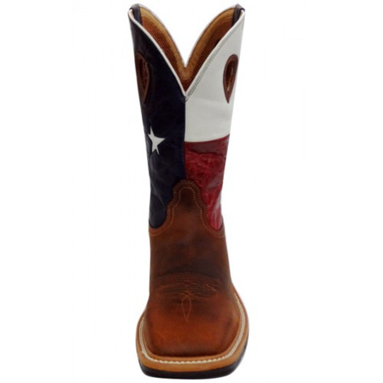 cca757348fe Twisted X Men's Lite Weight Cowboy Work Boots - Brown / Texas Flag