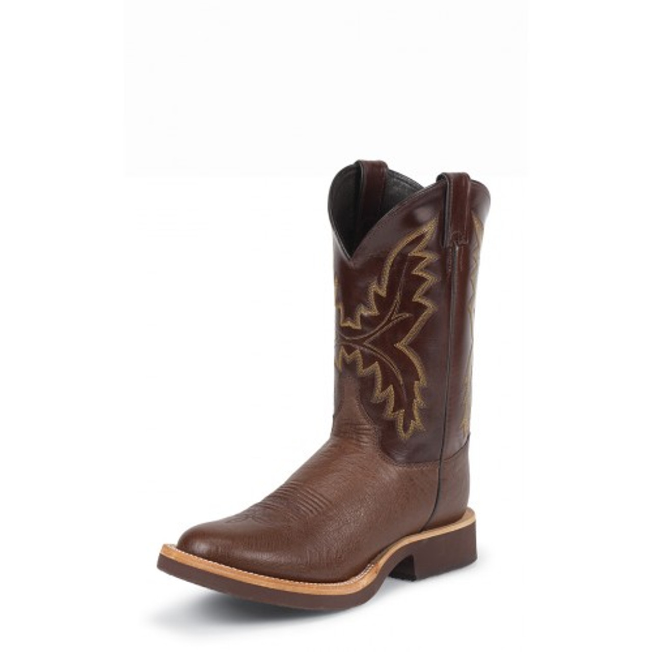 090e123d7a3 Justin Men's Western Exotic - Paluxy Antique Brown Smooth Ostrich /  Chocolate Calfino