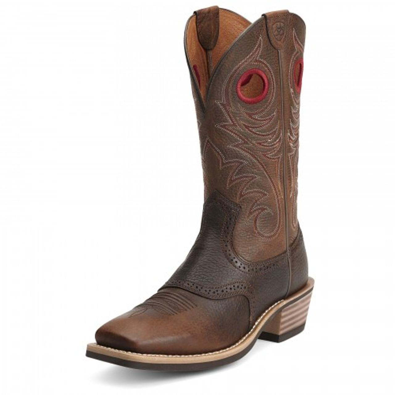 f5f6d7140ec Ariat Men's Boots - Heritage Roughstock - Brown Rowdy